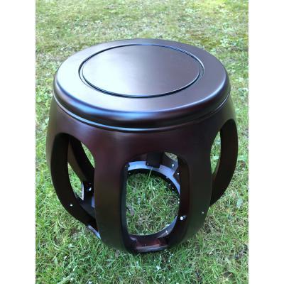 1112-橡木琴凳(4.5公斤)-紫檀色-高44厘米